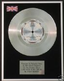 STEVIE WONDER - Platinum Disc-JUST CALLED TO SAY I LOVE
